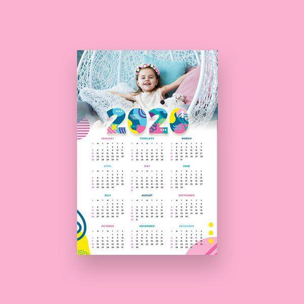 Calendario tamaño A3