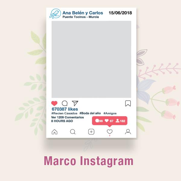 Fotocol Instagram, Facebook Bodas