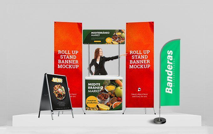 Tu imprenta digital online Expositores y banderas publicitarias